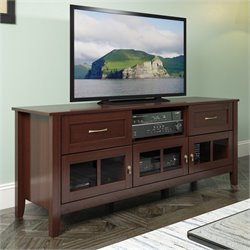 Sonax CorLiving Carlisle 3-Door Extra Wide TV Bench in Espresso