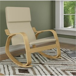 Contemporary Rocker in Warm White