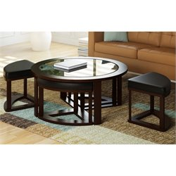 Sonax CorLivng Belgrove 5 Piece Coffee Table In Dark Espresso