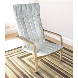 Sonax CorLiving Aquios Bentwood High Back Armchair in White