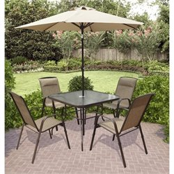 Sonax CorLiving Patio Dining 5 Piece Set in Dark Brown
