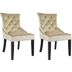 Accent Chair in Soft Beige (set of 2)