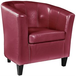 Sonax CorLiving Antonio Club Chair in Red