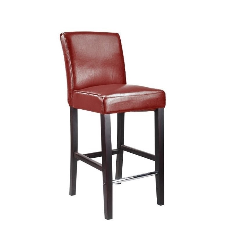 Enjoyable Corliving Antonio 31 Bonded Leather Bar Stool In Red Alphanode Cool Chair Designs And Ideas Alphanodeonline
