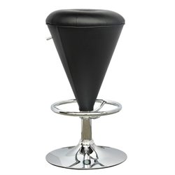 CorLiving Cone Shaped Adjustable Bar Stool in Black