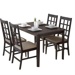 5 Piece Dining Set in Gray Stone