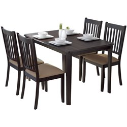 CorLiving Atwood 5 Piece Dining Set in Beige