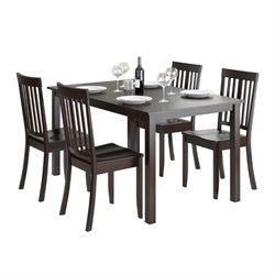 CorLiving Atwood 5 Piece Dining Set in Cappuccino