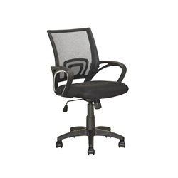 CorLiving Workspace Mesh Back Swivel Office Chair in Black