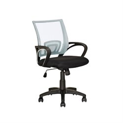 CorLiving Workspace Mesh Back Swivel Office Chair in White
