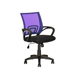 CorLiving Workspace Mesh Back Swivel Office Chair in Purple