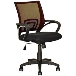 CorLiving Workspace Mesh Back Swivel Office Chair in Dark Brown