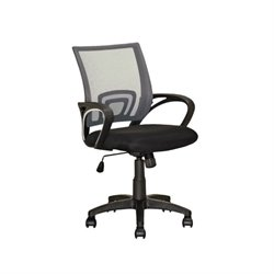 CorLiving Workspace Mesh Back Swivel Office Chair in Dark Gray