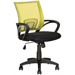 CorLiving Workspace Mesh Back Swivel Office Chair in Yellow