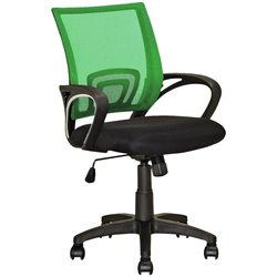 CorLiving Workspace Mesh Back Swivel Office Chair in Light Green