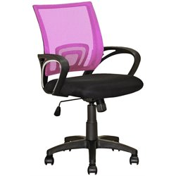 CorLiving Workspace Mesh Back Swivel Office Chair in Pinnk
