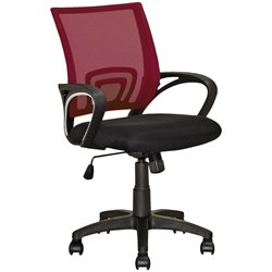 CorLiving Workspace Mesh Back Swivel Office Chair in Maroon