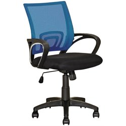 CorLiving Workspace Mesh Back Swivel Office Chair in Blue