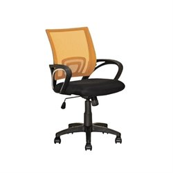 CorLiving Workspace Mesh Back Swivel Office Chair in Orange