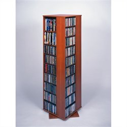 Leslie Dame CD DVD Spinning Tower in Cherry