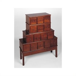 Leslie Dame 15-Drawer CD DVD Storage Cabinet in Walnut