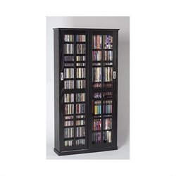 Leslie Dame CD DVD Wall Rack Media Storage in Black