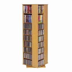 Leslie Dame Spinning CD/DVD Tower in Oak