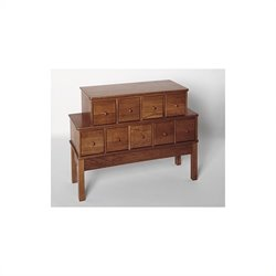 Leslie Dame 9-Drawer CD DVD Storage Cabinet in Walnut