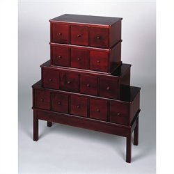 15-Drawer CD DVD Storage Cabinet in Cherry