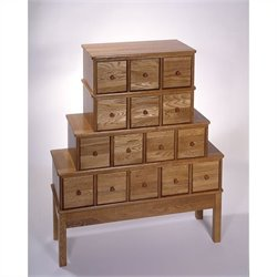 Leslie Dame 15-Drawer CD DVD Storage Cabinet in Oak