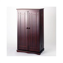 Leslie Dame CD/DVD Media Storage Cabinet with Door in Cherry