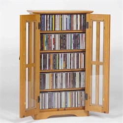 Leslie Dame Wall Hanging Multimedia Cabinet in Oak