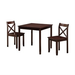 Boraam Jamie 3 Piece Dining Set in Cappuccino
