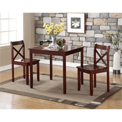 Boraam Jamie 3 Piece Dining Set in Cherry