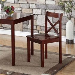 Boraam Jamie Dining Chair in Cherry (Set of 2)