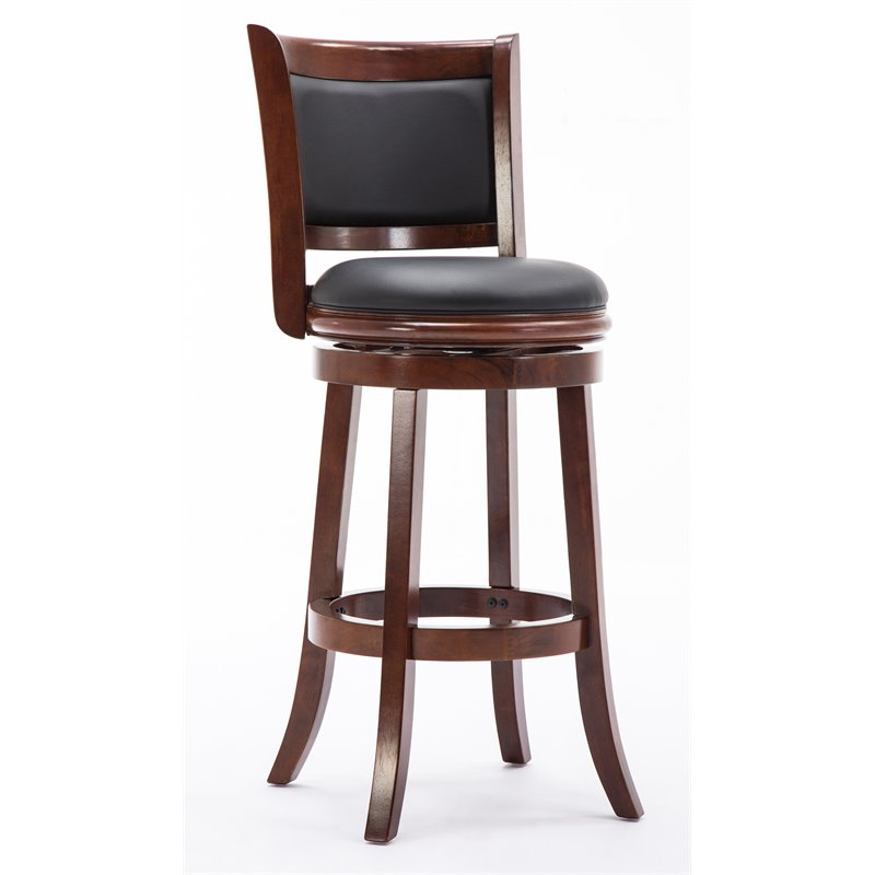 Boraam Augusta 29 Swivel Bar Stool With Back Without Arms Nailhead