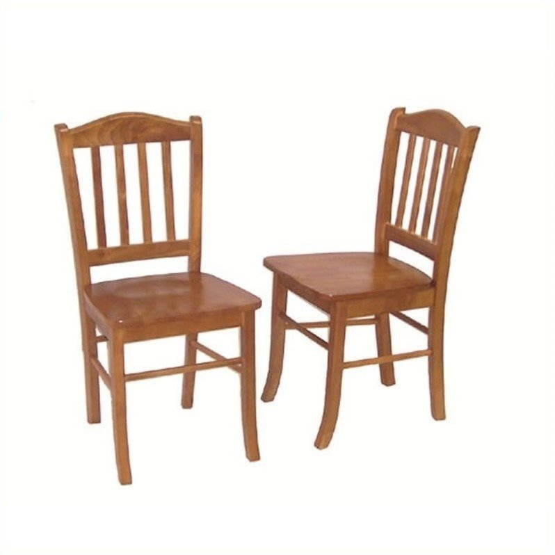 Dining Chair in Oak (Set of 2)
