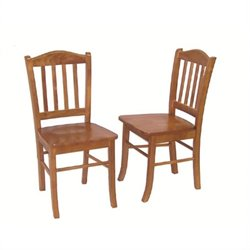 Boraam Shaker Wood Dining Side Chair in Oak (Set of 2)