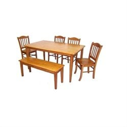 Boraam Shaker 6 Piece Dining Set in Oak