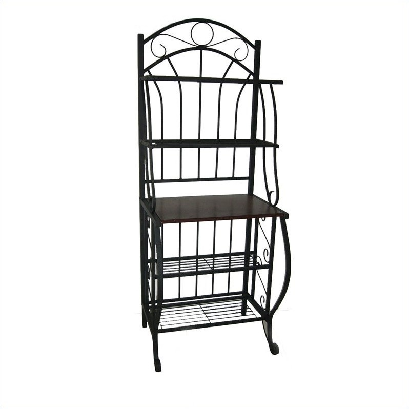 Valencia 4 Shelf Baker's Rack in Black