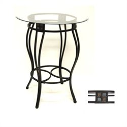 Round Counter Height Pub Table in Black and Gold