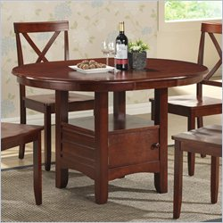 Boraam Madison Oval Dining Table in Cherry