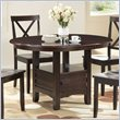 ADD TO YOUR SET: Boraam Madison Oval Dining Table in Cappuccino