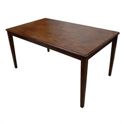 Boraam Shaker Rectangular Dining Table in Walnut