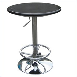 Boraam Luna Adjustable Pub Table in Black