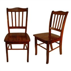 Boraam Shaker Dining Chair in Walnut (Set of 2)