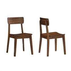Boraam Hagen Dining Chair in Rich Walnut (Set of 2)