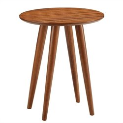 Boraam Varberg Side Table in Rich Walnut