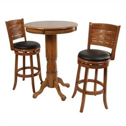 Boraam Florence 3 Piece Pub Set in Brush Oak
