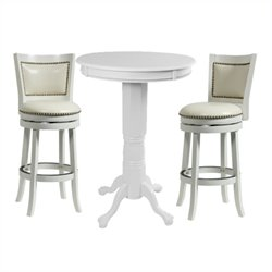 Boraam Florence 3 Piece Pub Set in White
